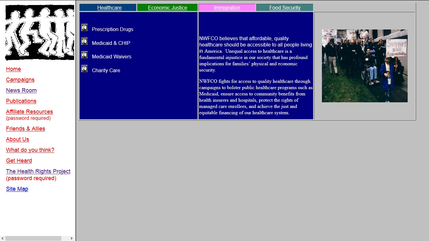 A screenshot of a poorly-designed website from 2003.