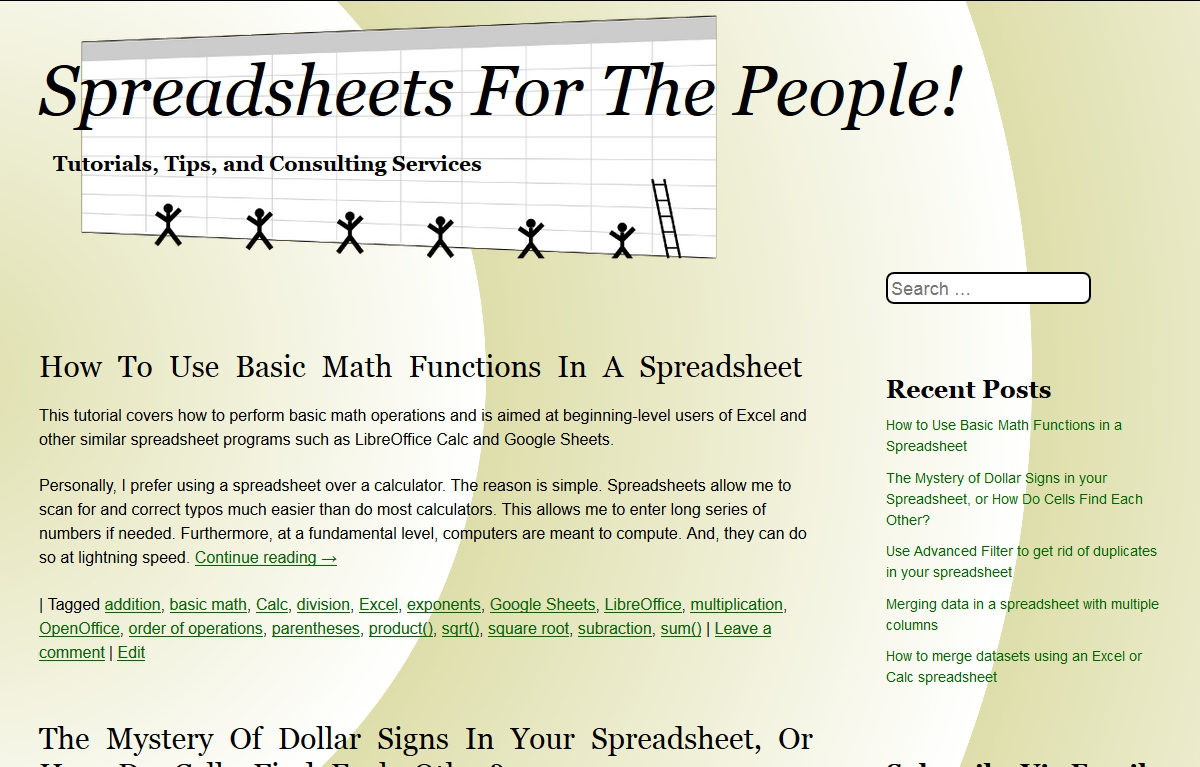 Spreadsheets for the People! home
